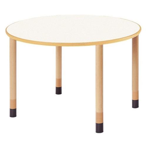 福祉施設用テーブル 高さ調節式 半円形型(写真は円形型です) 幅1800×奥行900×高さ660,700,740mm [FPA-1890HR]