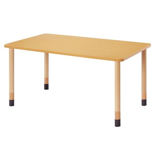 福祉施設用テーブル 高さ調節式 台形型(写真は角型です。) 幅1800×奥行780×高さ660,700,740mm [FPA-1878D]