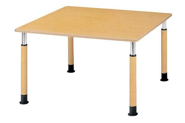 福祉施設用テーブル ラチェット式高さ調節 角型 幅900×奥行900×高さ600-800mm [FPS-0909K]