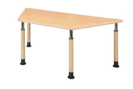 福祉施設用テーブル ラチェット式高さ調節 台形型 幅1800×奥行780×高さ600-800mm 【FPS-1878D】