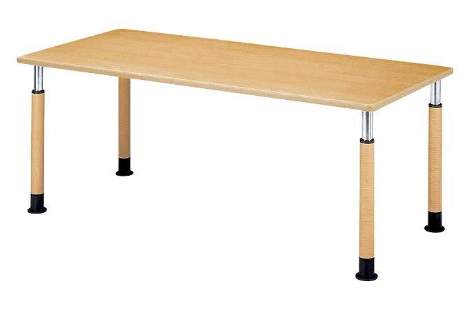 福祉施設用テーブル ラチェット式高さ調節 角型 幅2100×奥行900×高さ600-800mm [FPS-2190K]