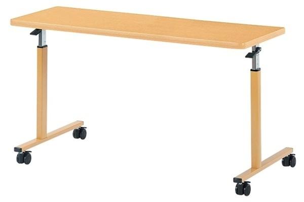 オーバーベッドテーブル ラチェット式高さ調節 幅1200×奥行450×高さ640-940mm 【WFM-1245】