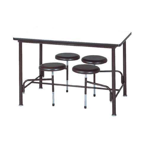 【受注生産品】食堂テーブル 自動復元式 W1200×D750×H750mm 4人掛背なし [STM-B1275]