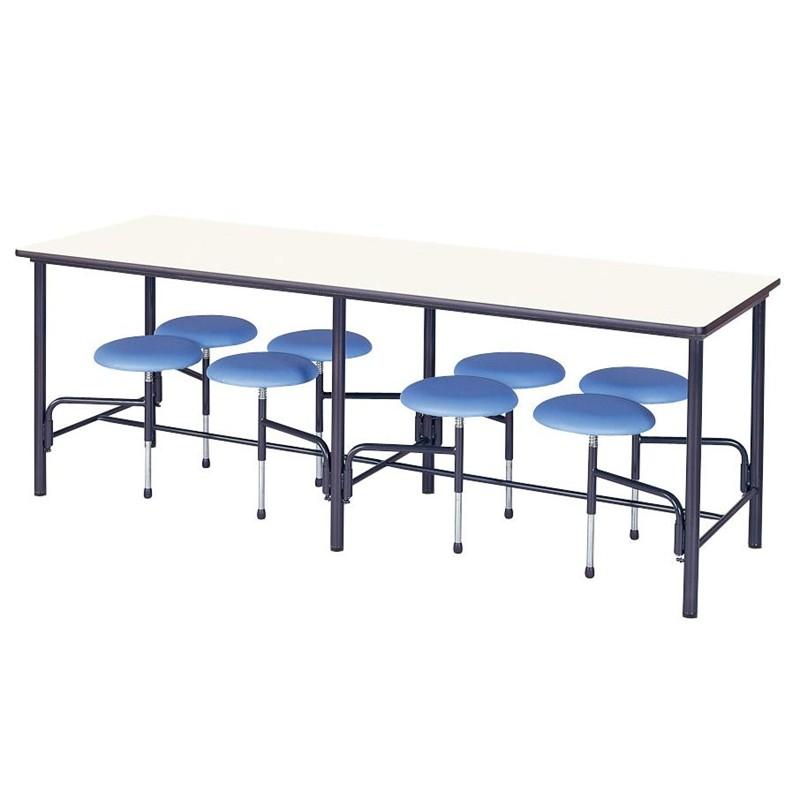 【受注生産品】食堂テーブル 自動復元式 W2100×D750×H750mm 8人掛背なし [STM-B2175]