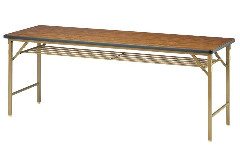 【受注生産品】会議用テーブル ワイド折りたたみ脚 ソフトエッジ巻天板 幅1800×奥行600×高さ700mm 【DKT-1860S】
