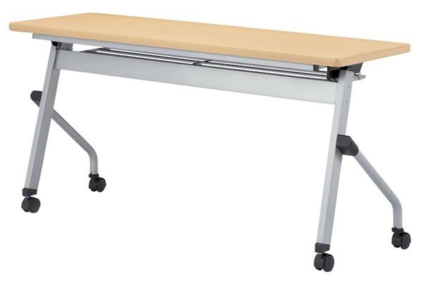 【受注生産品】フラップ式会議テーブル パネルなし 幅1500×奥行600×高さ700mm 【HLS-1560】