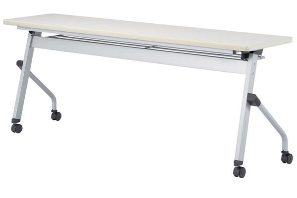 【受注生産品】フラップ式会議テーブル パネルなし 幅1800×奥行600×高さ700mm 【HLS-1860】