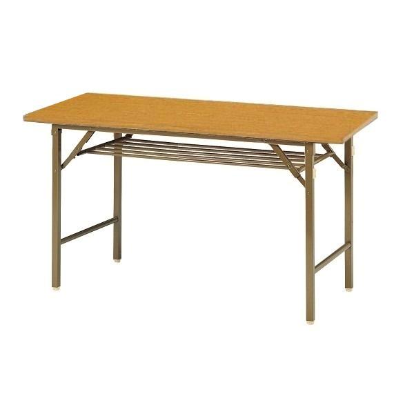 【受注生産品】会議用テーブル クランク式折りたたみ脚 共巻天板 W1200×D450×H700mm 【KT-1245T】