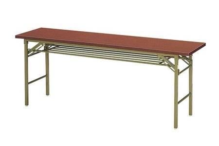 【受注生産品】会議用テーブル 折りたたみ脚 共巻天板 間口1800×奥行600×高さ700mm 【KT-1860T】