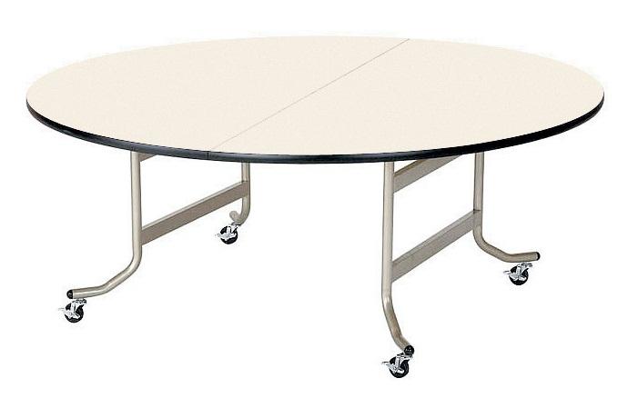 【受注生産品】天板折りたたみ式テーブル 丸型 直径900×高さ700mm 【OS-900RS】