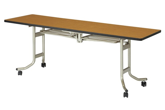 【受注生産品】天板折りたたみ式テーブル 角型 幅1800×奥行900×高さ700mm 【OS-1890S】