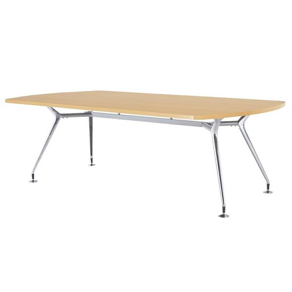 【高さ720mm】【受注生産】会議テーブル アルミダイキャスト脚・ボート型 幅2400×奥行1200×高さ720mm [CAD-2412K]