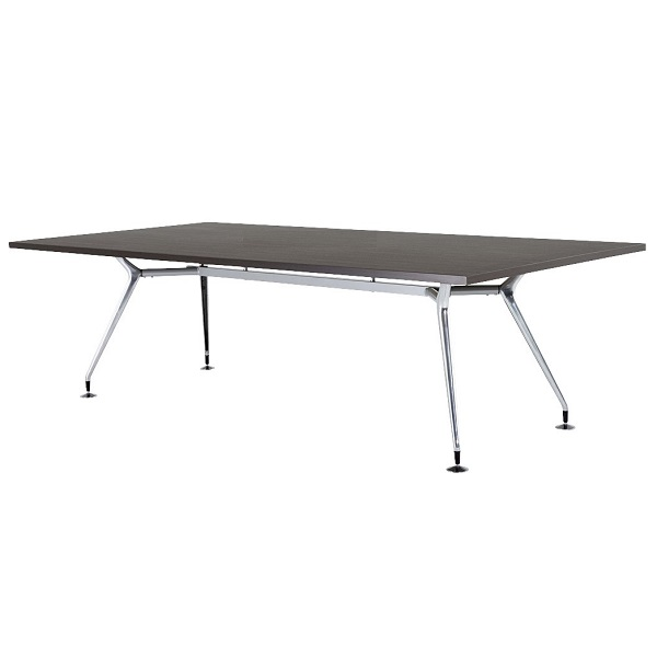 【高さ720mm】【受注生産】会議テーブル アルミダイキャスト脚・角型 幅2400×奥行1200×高さ720mm [CAD-2412K]