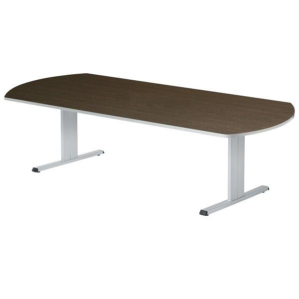 【高さ720mm】会議テーブル 対立脚 ボート型 W2400×D1200×H720mm [CLT-2412B]