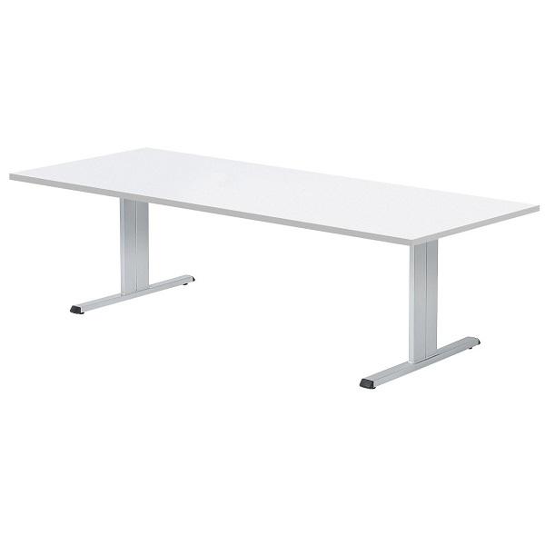 【高さ720mm】会議テーブル 対立脚 角型 W2400×D1200×H720mm [CLT-2412K]
