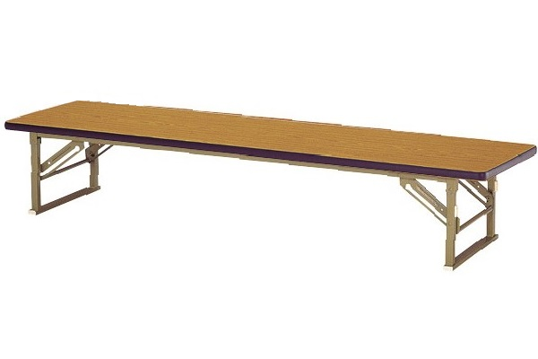 【受注生産品】座卓 座りテーブル 脚折式 ソフトエッジ巻天板 間口1800×奥行450×高さ330mm 【ZP-1845S】