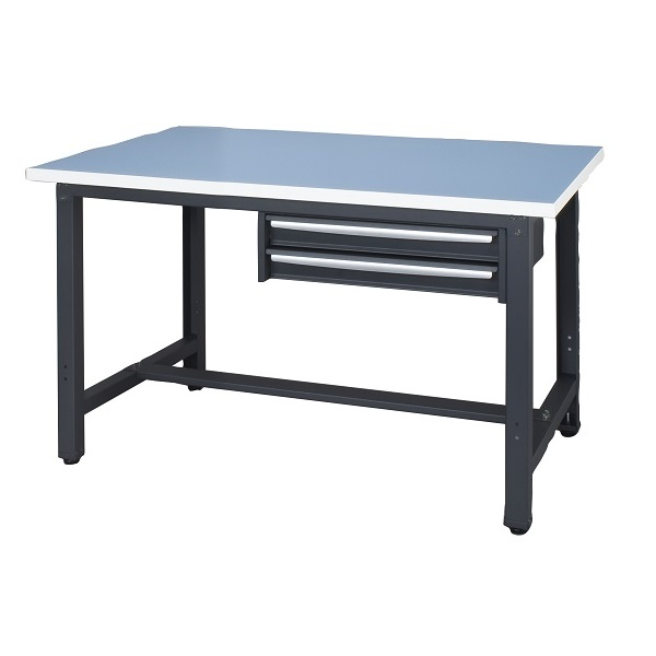 作業台 耐荷重500kg W120×D75×H73.5cm ロンリューム 2段引出し付 ワークベンチロンリューム 作業用テーブル お客様組立 個人様宛配送不可 WZR-12752