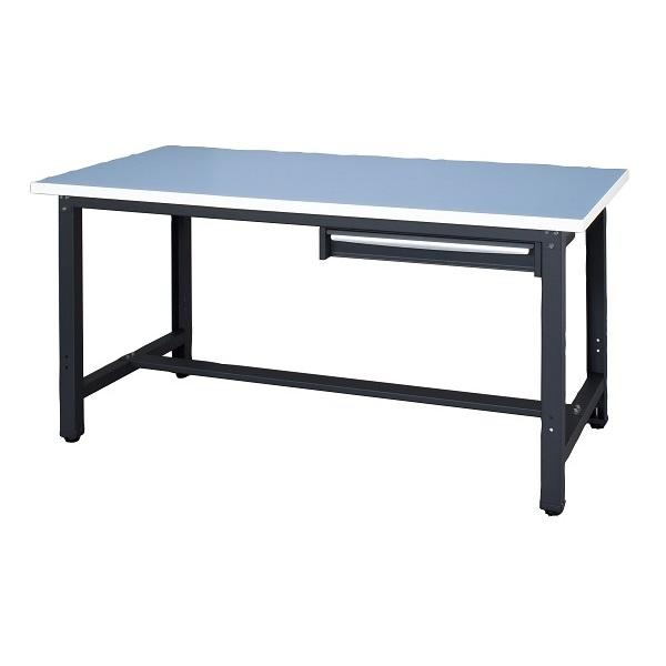 作業台 耐荷重500kg W150×D75×H73.5cm ロンリューム 1段引出し付 ワークベンチロンリューム 作業用テーブル お客様組立 個人様宛配送不可 WZR-15751