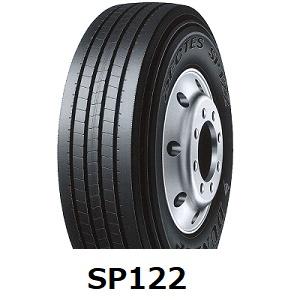 【2020年製造】225/80R17.5 123/122L DECTES SP122 送料無料 タテ溝 ダンロップ 225/80-17.5 SP 122 -新品-