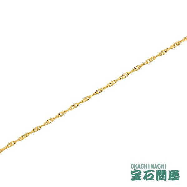 K18 スクリューチェーン ブレスレット 1.6mm幅 18cm 造幣局刻印 ホールマーク ゴールド 18金 新品 029