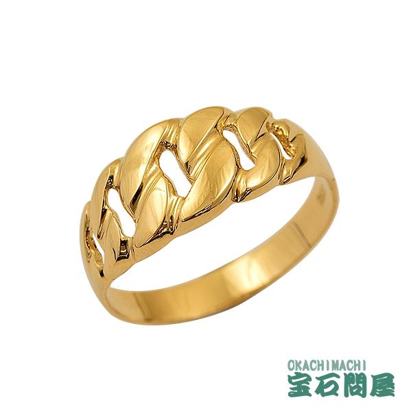 喜平リング K18 キヘイ ゴールド マイアミキューバン ピンキー メンズ レディース 新品
