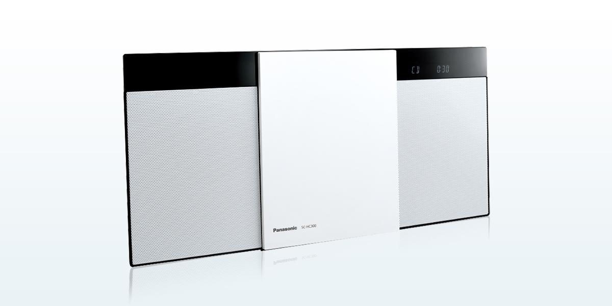 ステレオシステム CD ラジオ Bluetooth パナソニックSC-HC300-W ホワイト