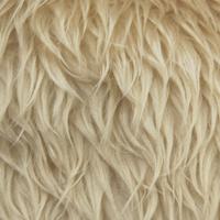 毛皮布料长卷毛狗毛皮围巾(5820)456.灯浅驼色(b)k5