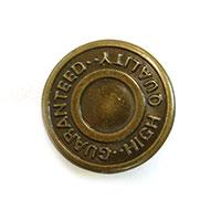 \期間限定10%OFF デニムボタン ネオバーロゴ入り お得なキャンペーンを実施中 NP-1-19.GHQ 市販 ABL.いぶしゴールド 19mm _6a_ H