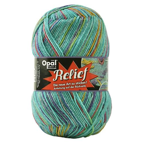 毛糸 Opal-オパール- レリーフ ディスカウント Welle 9494.ターコイズ系マルチカラー _b1j M 激安通販