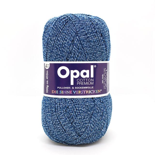 毛糸 Opal-オパール- ラッピング無料 コットンプレミアム 単色 KFS11052.コットンネイビー 正規品スーパーSALE×店内全品キャンペーン M _b1j