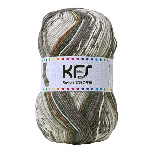 毛糸 Opal-オパール- 家族の笑顔 KFS118.お父さんの笑顔/グレー・ブラウン系マルチカラー (M)_b1j
