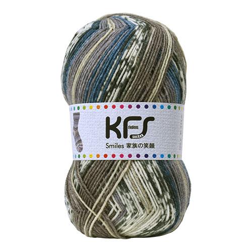 毛糸 Opal-オパール- 家族の笑顔 KFS119.おじいちゃんの笑顔/グレー・ブルー系マルチカラー (M)_b1j