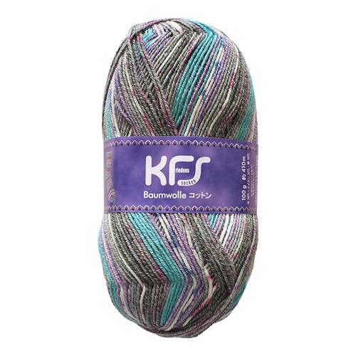 毛糸 Opal-オパール- オリジナルコットン KFS152.ジーヴェン/グレー・ブルー系マルチカラー (M)_b1j