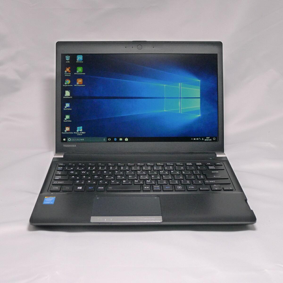 TOSHIBA アウトレット☆送料無料 dynabook ご予約品 R734 Core i3 8GB 新品SSD240GB スーパーマルチ 無線LAN 13.3インチ ノートパソコン Windows10 中古 64bitWPSOffice 中古パソコン