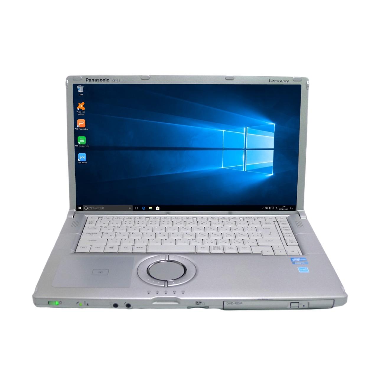 パナソニック Panasonic Let's 大特価 note CF-B11 Core i3 8GB HDD320GB Windows10 64bitWPSOffice DVD-ROM モバイルノート 中古パソコン ノートパソコン 無線LAN 15.6インチ 中古 メーカー直送
