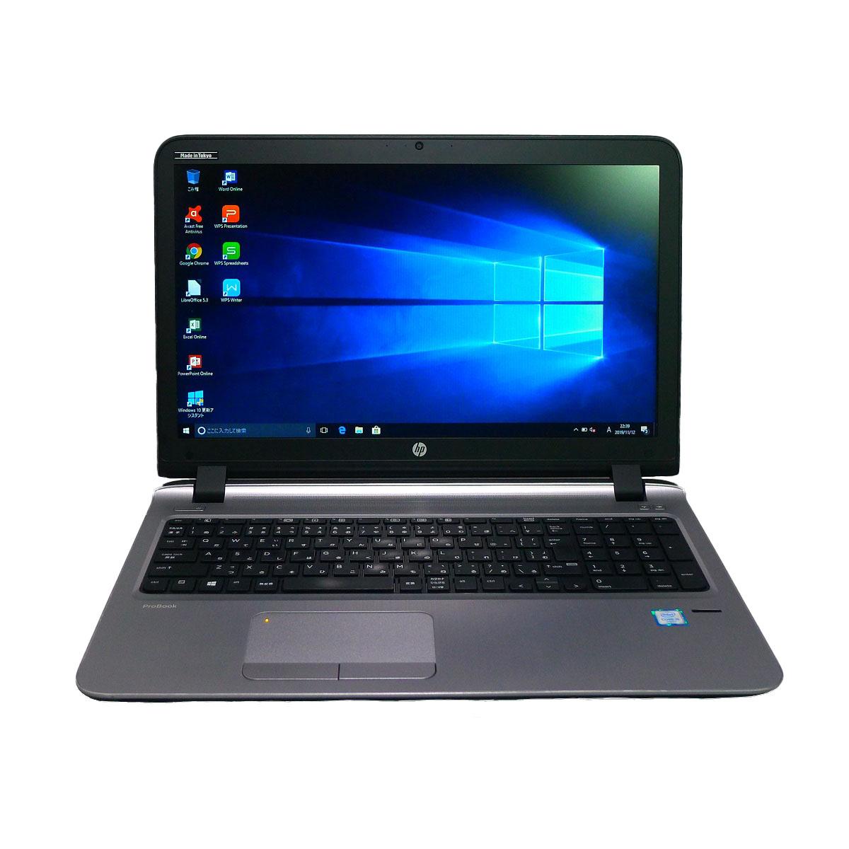 HP 休み ProBook 450 G3Celeron 期間限定特価品 16GB 新品SSD2TB DVD-ROM 15.6インチ 無線LAN 中古パソコン 64bitWPSOffice ノートパソコン 中古 Windows10
