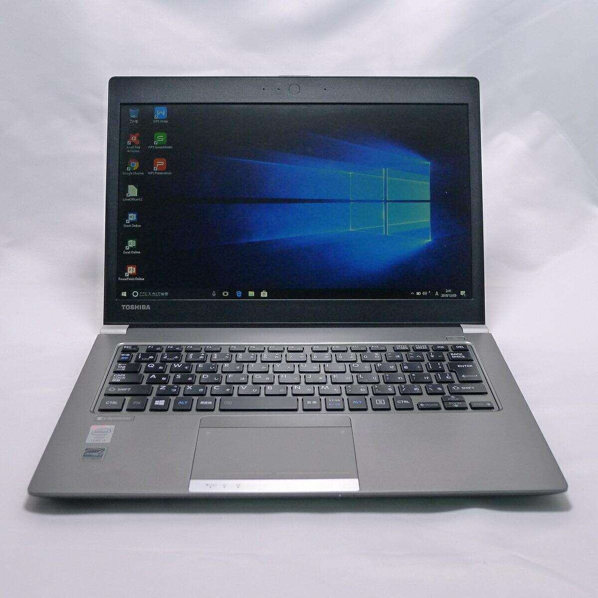TOSHIBA dynabook R634 Core i5 8GB SSD120GB 無線LAN Windows10 64bitWPSOffice 13.3インチ モバイルノート 中古 中古パソコン 【中古】 ノートパソコン