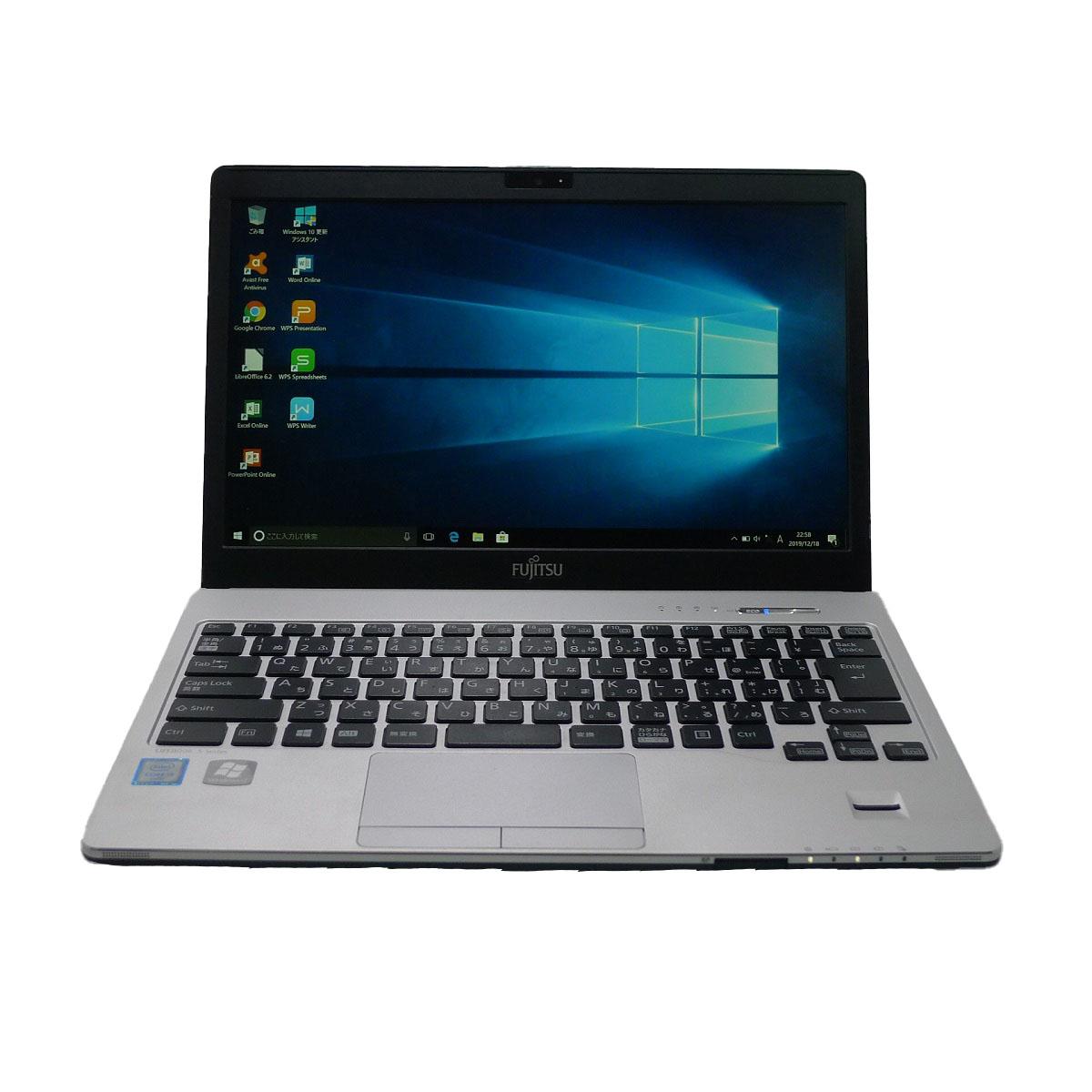 FUJITSU LIFEBOOK S936 Core i5 4GB SSD240GB 無線LAN フルHD Windows10 64bitWPSOffice 13.3インチ モバイルノート 中古 中古パソコン 【中古】