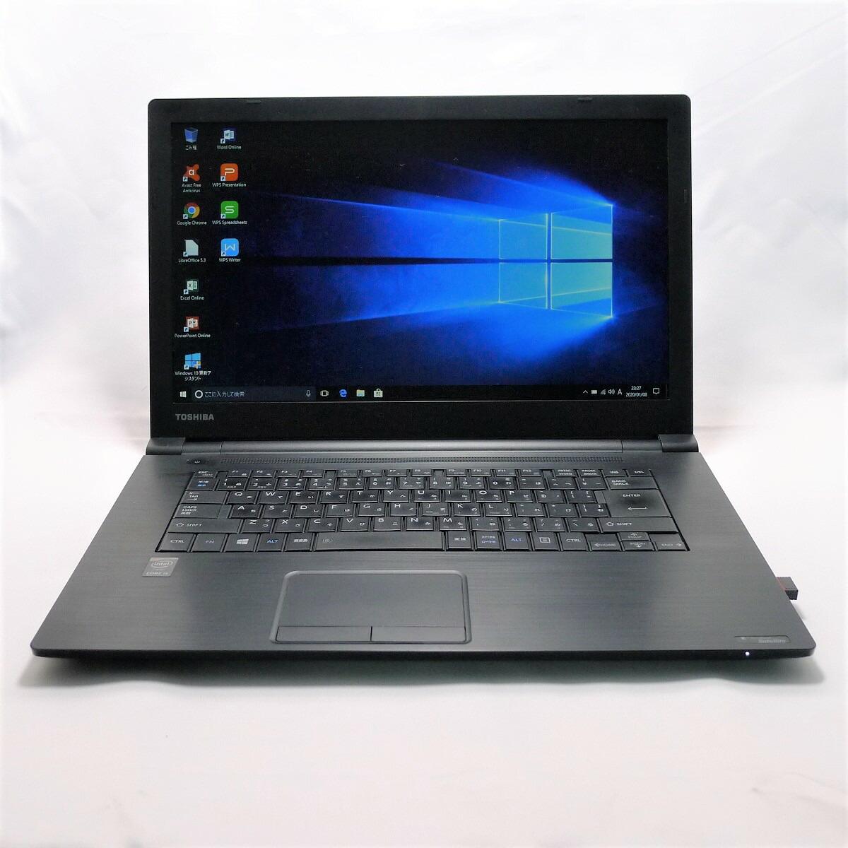 TOSHIBA dynabook Satellite B65 Core i5 16GB 新品SSD480GB DVD-ROM 無線LAN Windows10 64bitWPSOffice 15.6インチ 中古 中古パソコン 【中古】 ノートパソコン