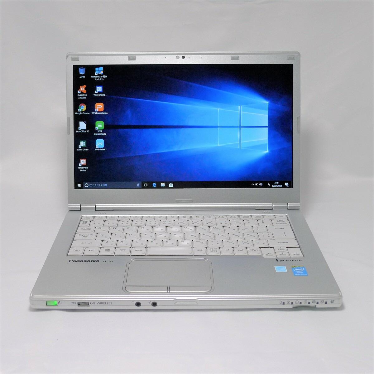 パナソニック Panasonic Let's note CF-LX3 Core i5 16GB 新品SSD480GB 国産品 中古 スーパーマルチ Windows10 64bitWPSOffice 中古パソコン 即納 無線LAN ノートパソコン 14インチ モバイルノート
