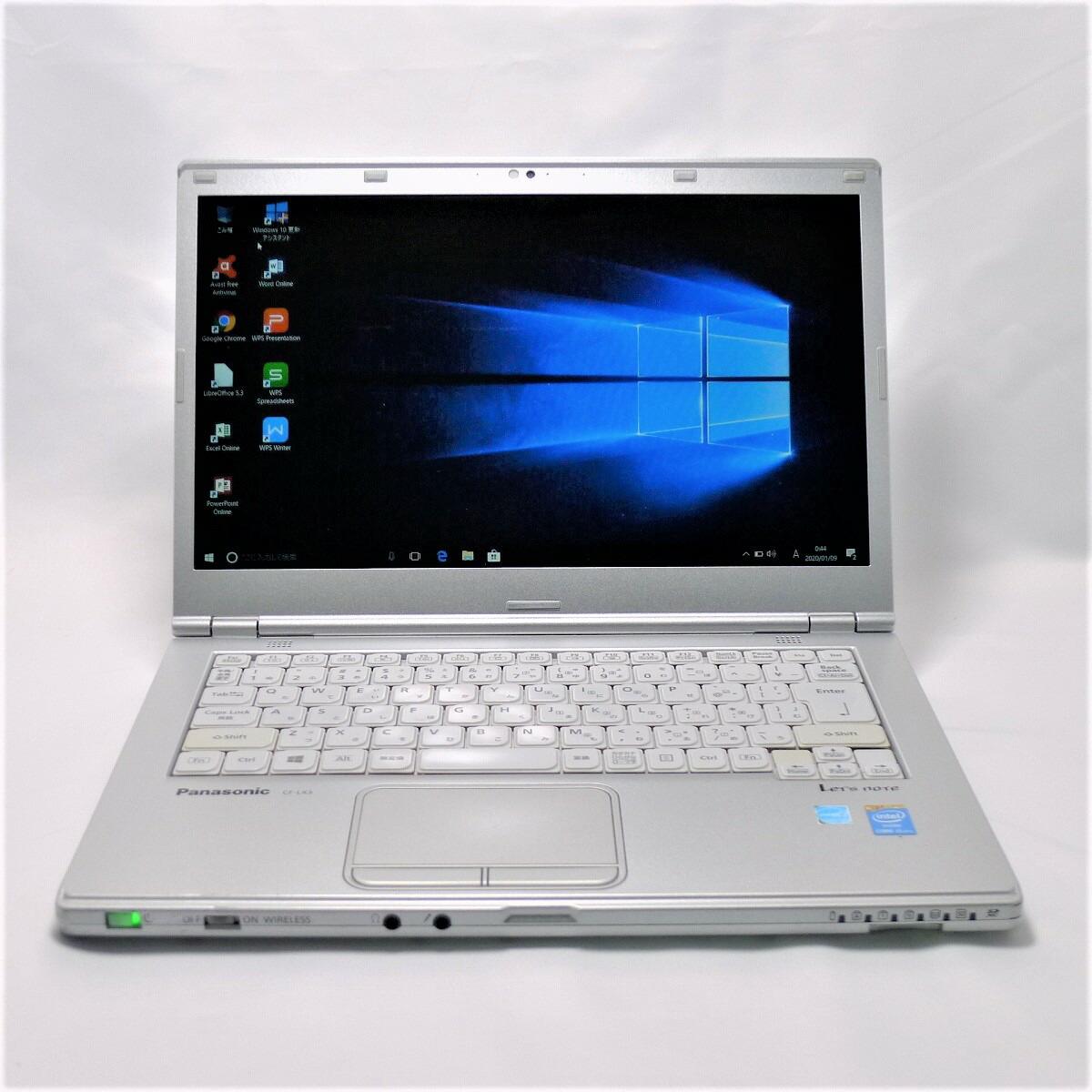 パナソニック Panasonic Let's note CF-LX3 Core i5 8GB 新品SSD960GB 無線LAN Windows10 64bitWPSOffice 14インチ 中古 中古パソコン モバイルノート 【中古】