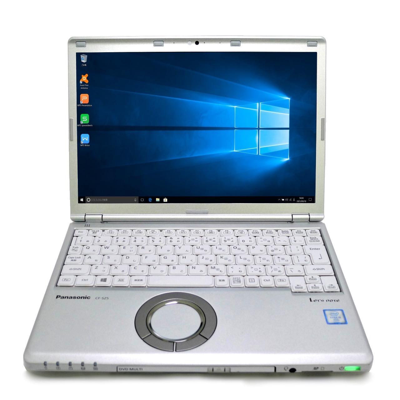 在宅勤務にオススメ パナソニック Panasonic 公式ストア Let's note CF-SZ5 Core i5 4GB 新品SSD2TB 12.1型 ノートパソコン スーパーマルチ 無線LAN Windows10 中古 待望 モバイルノート 中古パソコン 64bitWPSOffice