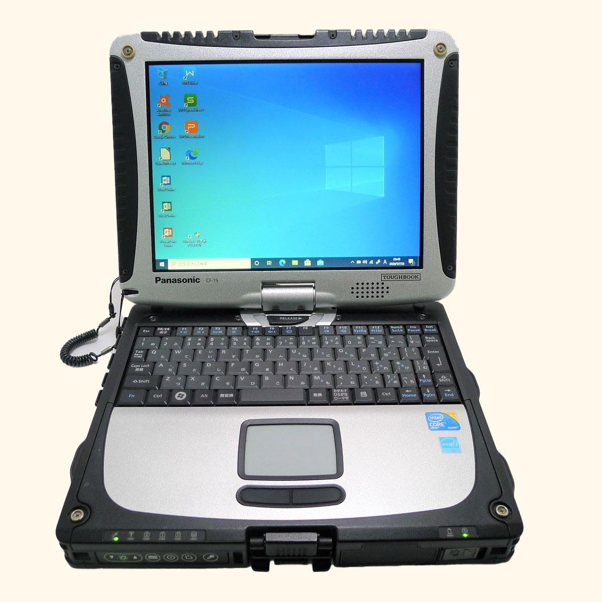 信憑 パナソニック Panasonic TOUGHBOOK CF-19RW1ADS モデル着用&注目アイテム Core i5 8GB 新品SSD2TB 無線LAN 中古 ノートパソコン 10.4インチ XGA 64bitWPSOffice 中古パソコン Windows10 タッチペンなし タッチパネル