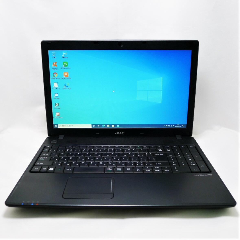 期間限定の激安セール 売買 acer TRAVEL MATE P453 i3 4GB HDD500GB DVD-ROM 無線LAN 中古 ノートパソコン WPSOffice 15.6インチ Windows10 64bit 中古パソコン