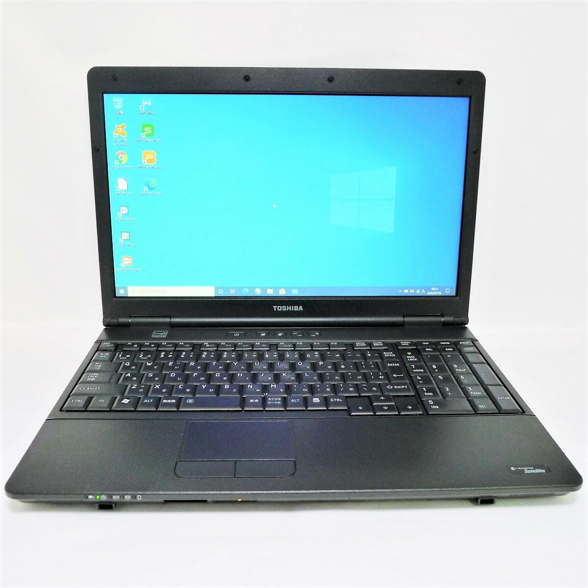 TOSHIBA dynabook Satellite B552 Celeron 定番キャンバス 16GB 新品HDD1TB スーパーマルチ 64bitWPSOffice テンキーあり ノートパソコン 100%品質保証 無線LAN Windows10 15.6インチ 中古 中古パソコン