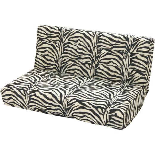 【送料無料・一部地域を除く】話題のアニマル柄(ゼブラ・シマウマ柄)座椅子二人でも座れるソファみたいな座椅子起毛・ふわふわの手触り