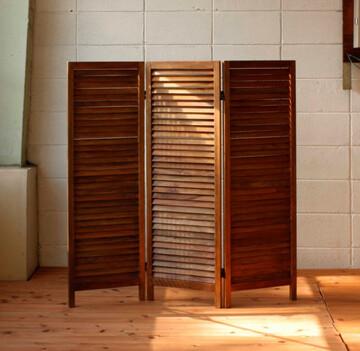 【送料無料】新発売マホガニー材のシンプルなパーテーションかわいい・おしゃれなついたて・間仕切り