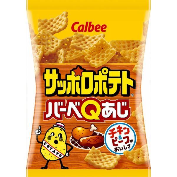 チキン&ビーフのおいしさ カルビー サッポロポテト バーベQあじ 24g × 24袋