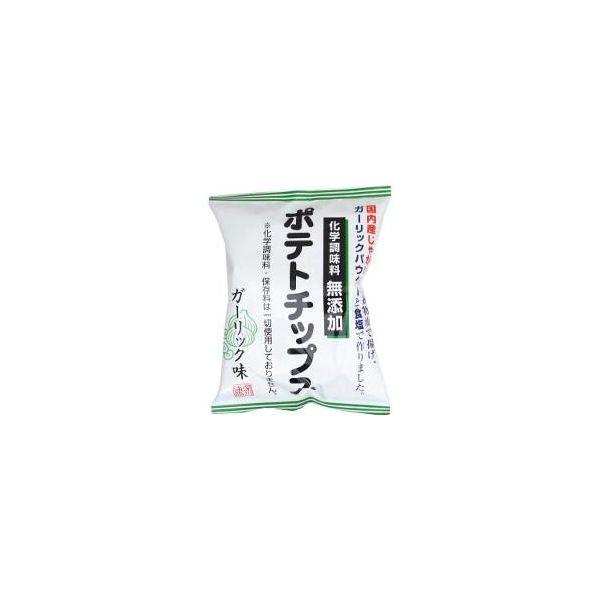 大人気 科学調味料無添加 深川油脂工業 化学調味料無添加ポテトチップス 有名な ガーリック味 55g×12袋