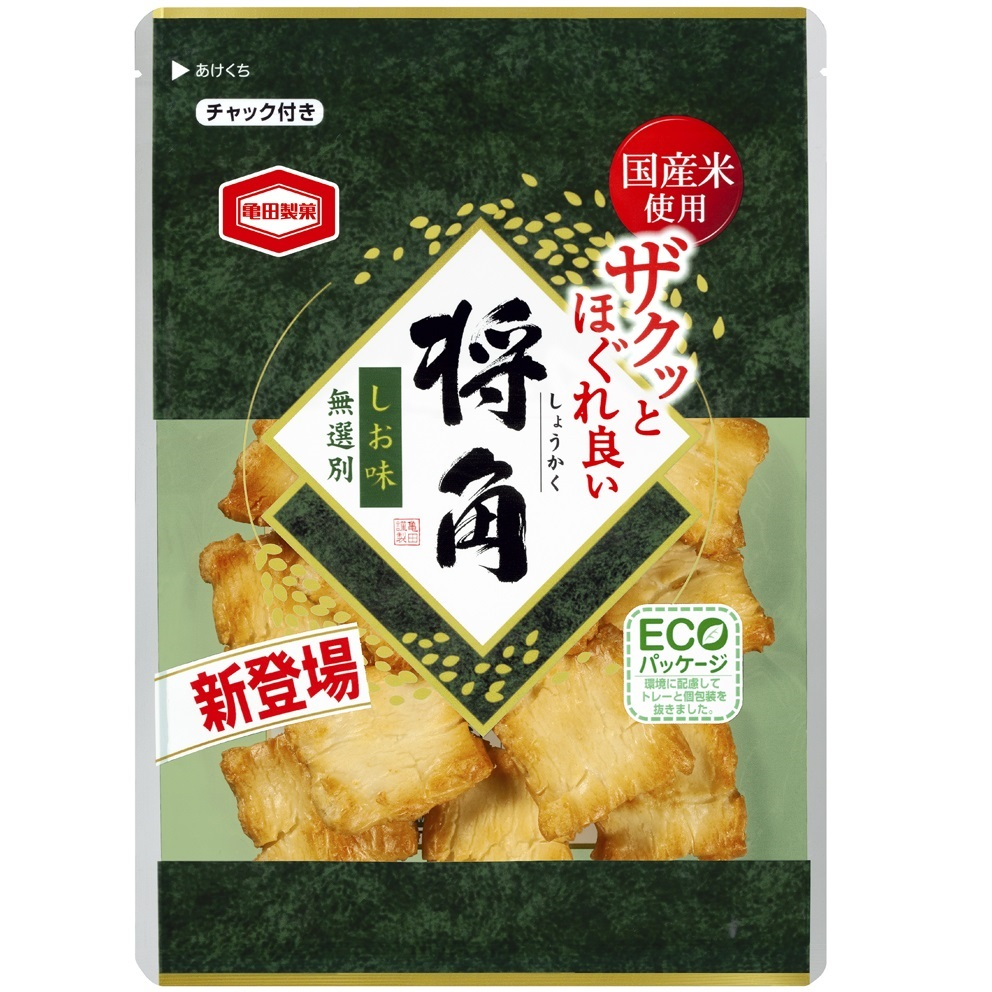 国産米使用 亀田製菓 SALENEW大人気 将角 しお味 105g×8袋 買い物